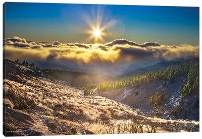 Cloudy Mountain Canvas Print #BHE162