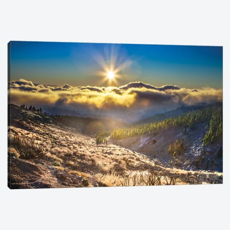 Cloudy Mountain Canvas Print #BHE162} by Ben Heine Canvas Artwork