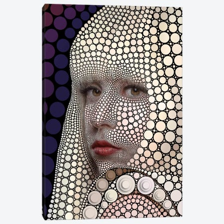 Lady Gaga Canvas Print #BHE163} by Ben Heine Canvas Art