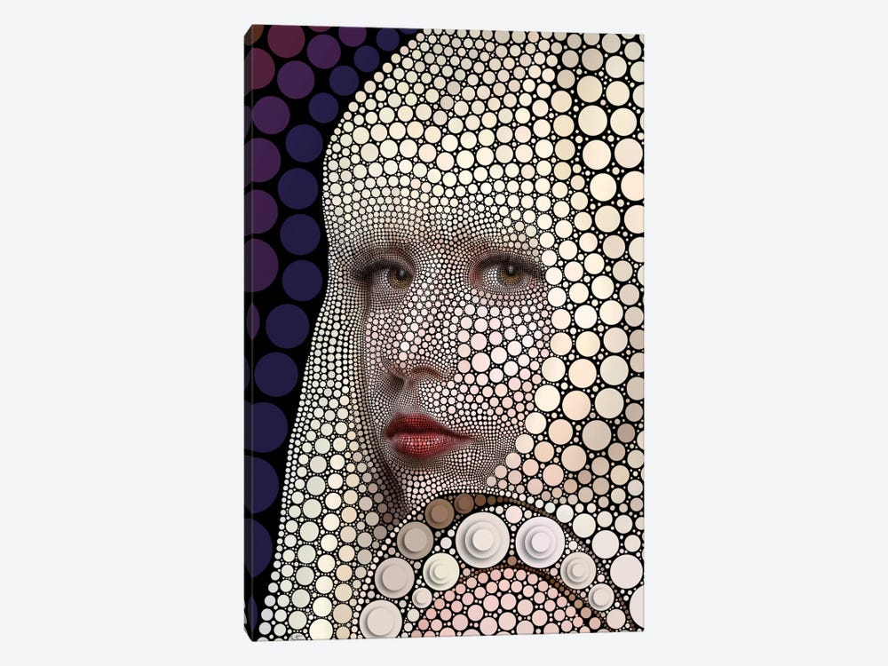 Digital Circlism Series: Lady Gaga by Ben Heine 1-piece Art Print