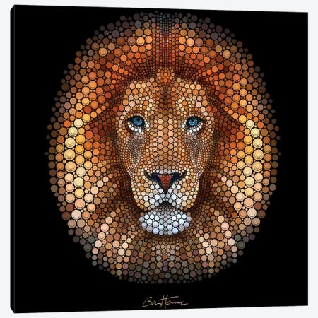 Lion Canvas Print #BHE164} by Ben Heine Canvas Print