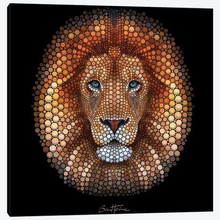 Lion Canvas Print #BHE164} by Ben Heine Canvas Print