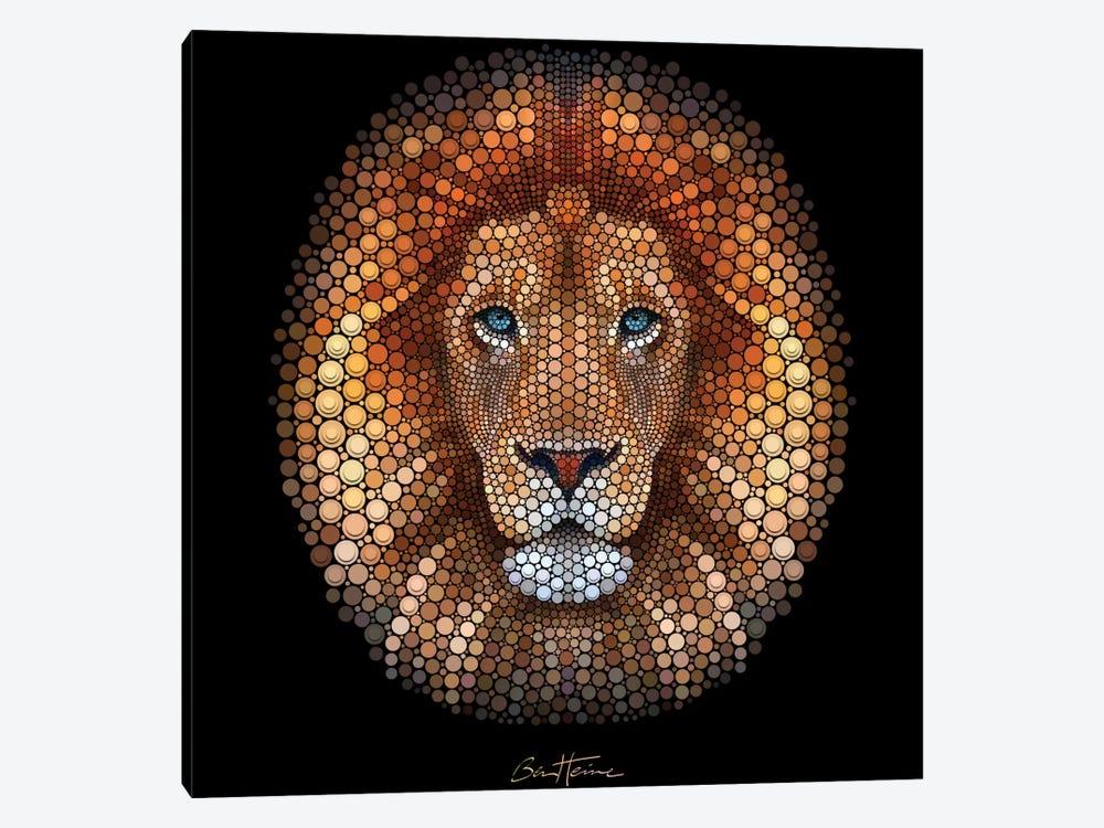 Lion by Ben Heine 1-piece Canvas Artwork