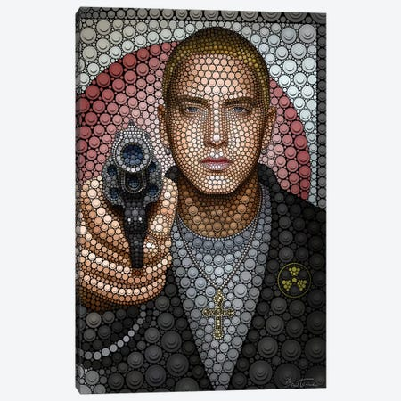 Eminem Canvas Print #BHE174} by Ben Heine Canvas Art