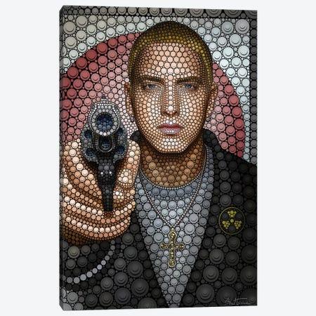 Eminem Canvas Print #BHE174} by Ben Heine Canvas Art