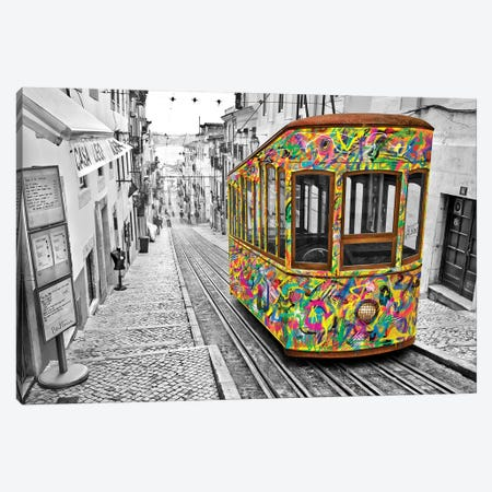 Lisbon Tram Canvas Print #BHE184} by Ben Heine Canvas Print