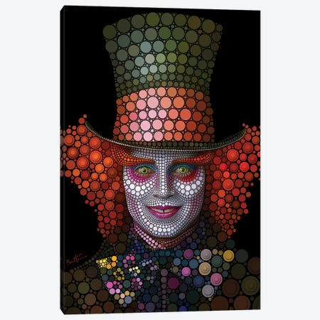 Mad Hatter - Johnny Depp Canvas Print #BHE187} by Ben Heine Art Print