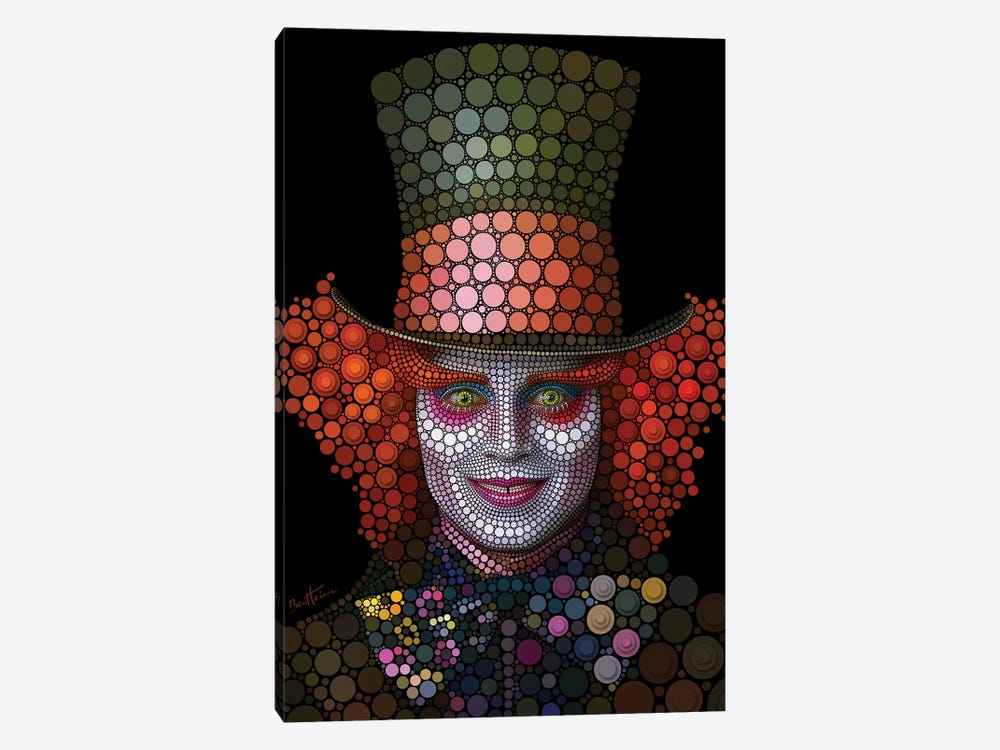 Mad Hatter - Johnny Depp by Ben Heine 1-piece Art Print