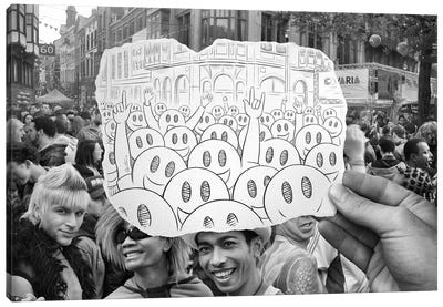 Pencil vs. Camera 22 - Gay Smileys Canvas Print #BHE19