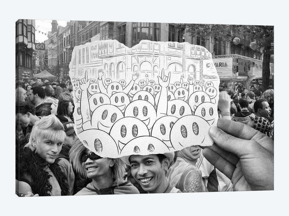 Pencil vs. Camera 22 - Gay Smileys by Ben Heine 1-piece Canvas Print
