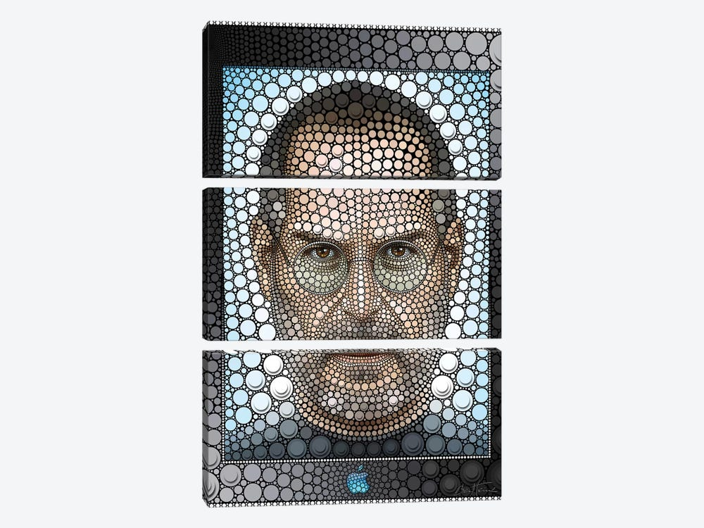 Steve Jobs by Ben Heine 3-piece Art Print