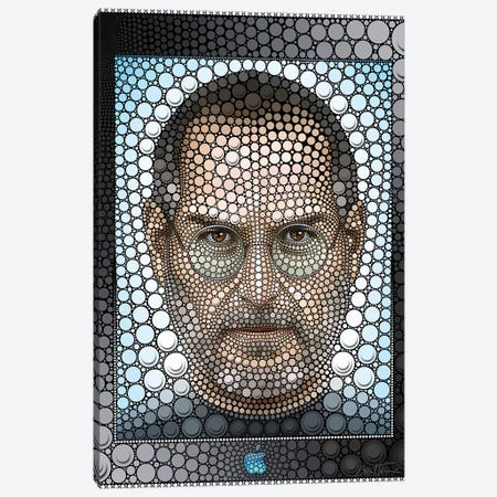 Steve Jobs 3-Piece Canvas #BHE203} by Ben Heine Canvas Print
