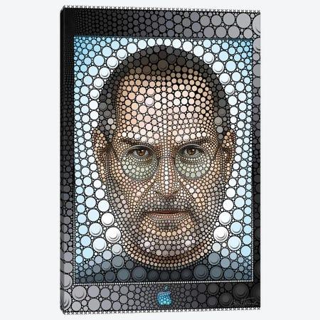Steve Jobs Canvas Print #BHE203} by Ben Heine Canvas Print