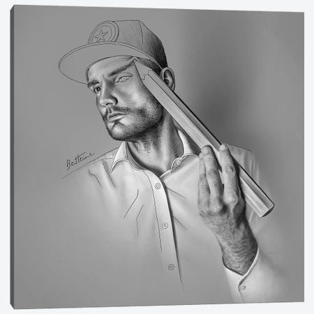 Drawing Canvas Print #BHE211} by Ben Heine Canvas Artwork