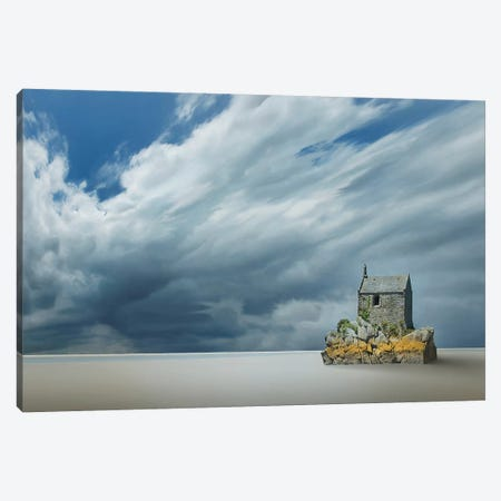 Lonely House Canvas Print #BHE217} by Ben Heine Canvas Art Print