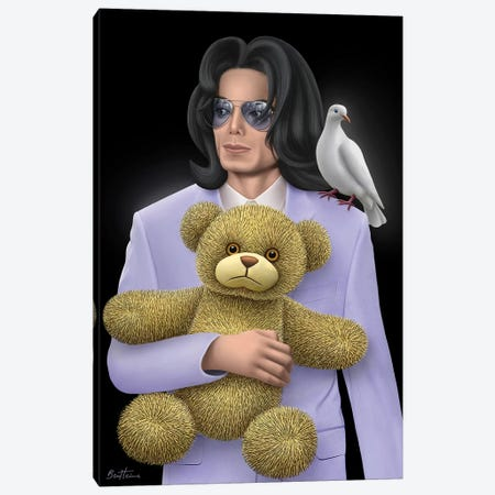 Michael Jackson - Eternal Child Canvas Print #BHE218} by Ben Heine Canvas Wall Art