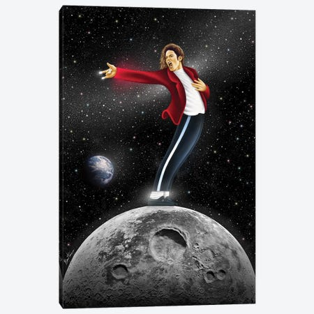 Michael Jackson, Beat It Canvas Print #BHE219} by Ben Heine Canvas Artwork