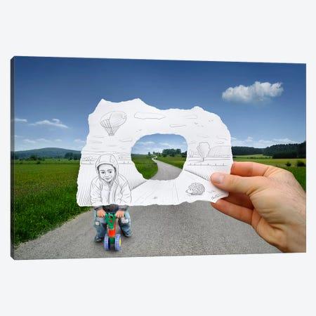 Pencil vs. Camera 29 - Child Playing Canvas Print #BHE21} by Ben Heine Art Print