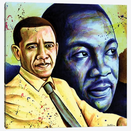 Obama And L. King Canvas Print #BHE220} by Ben Heine Canvas Print