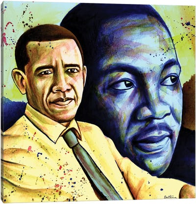 Obama And L. King Canvas Art Print