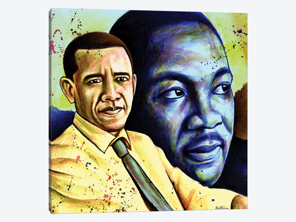 Obama And L. King by Ben Heine 1-piece Canvas Wall Art