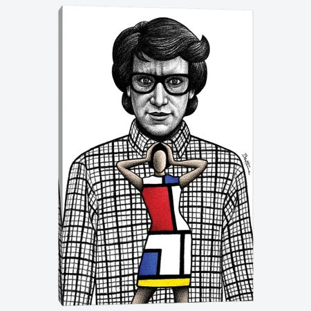 Yves Saint Laurent Canvas Print #BHE227} by Ben Heine Canvas Art