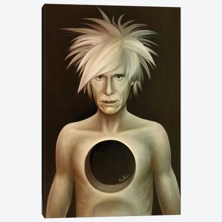 Andy Warhol Canvas Print #BHE229} by Ben Heine Canvas Print