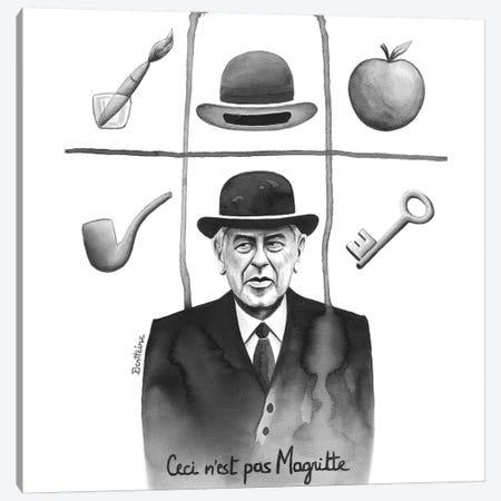 Ceci N'Est Pas Magritte 3-Piece Canvas #BHE231} by Ben Heine Canvas Artwork