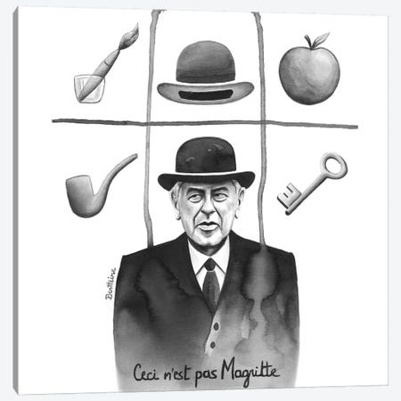 Ceci N'Est Pas Magritte Canvas Print #BHE231} by Ben Heine Canvas Artwork