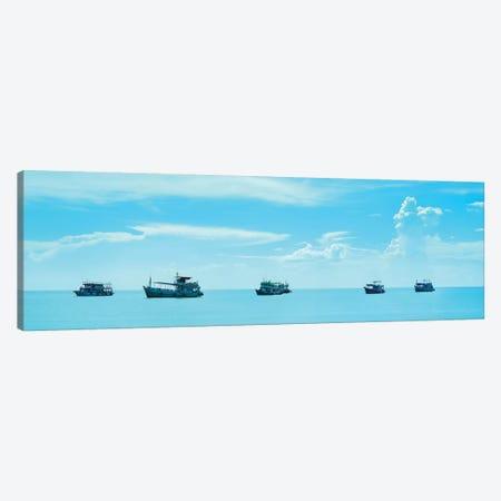 Cyan Waterscape Thailand 3-Piece Canvas #BHE232} by Ben Heine Canvas Wall Art