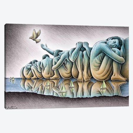 Los Gigantes Canvas Print #BHE239} by Ben Heine Canvas Artwork