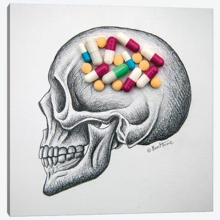 Skull Medicines Canvas Print #BHE245} by Ben Heine Canvas Art