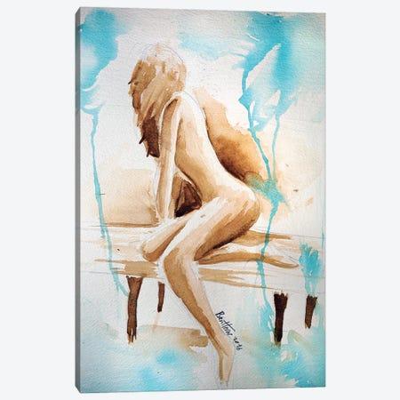 Watercolor Study - Woman Canvas Print #BHE257} by Ben Heine Canvas Art Print