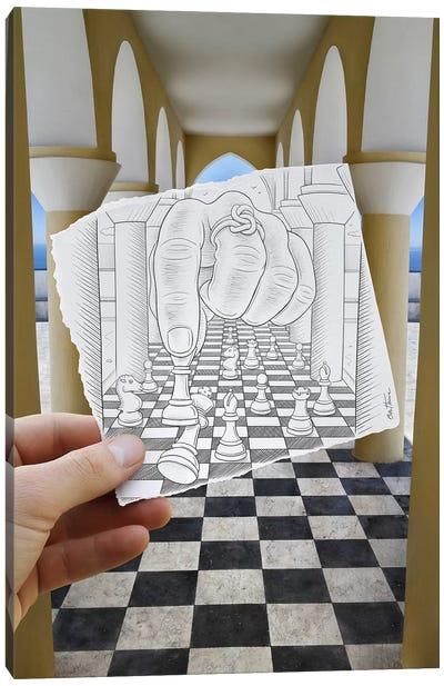 Pencil vs. Camera 37 - Checkmate Canvas Print #BHE25