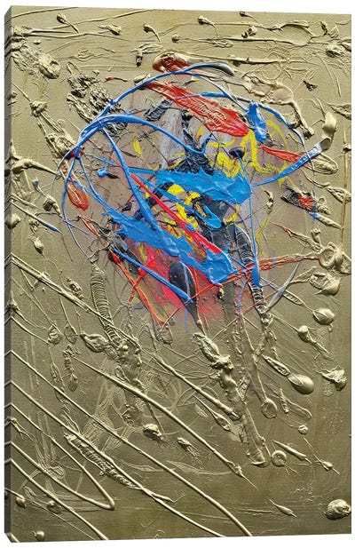 Blue Effusion Canvas Art Print