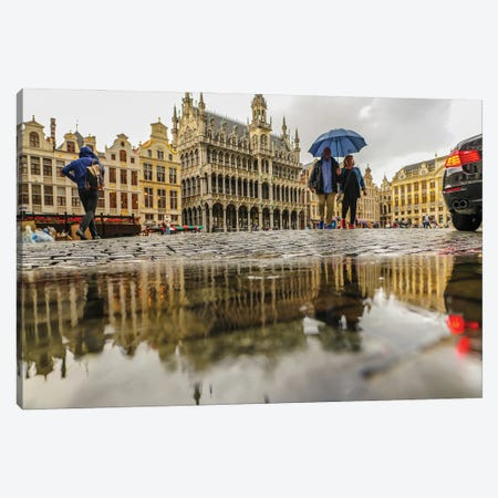 Brussels Grand Place II Canvas Print #BHE269} by Ben Heine Canvas Print