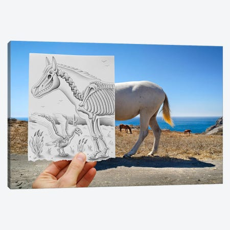 Pencil vs. Camera 40 - X Ray Canvas Print #BHE26} by Ben Heine Canvas Artwork
