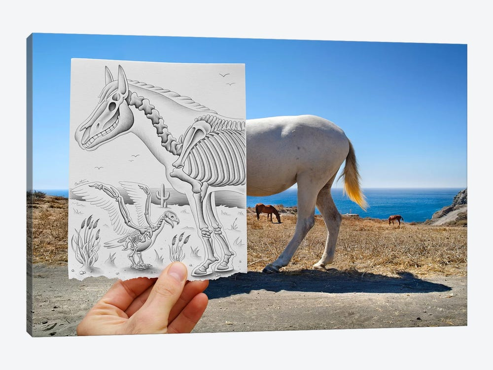Pencil vs. Camera 40 - X Ray by Ben Heine 1-piece Canvas Print