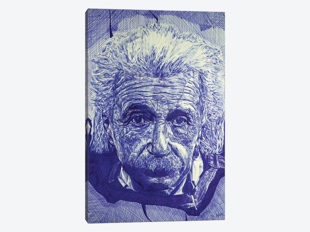 Einstein Ballpoint Pen by Ben Heine 1-piece Canvas Art