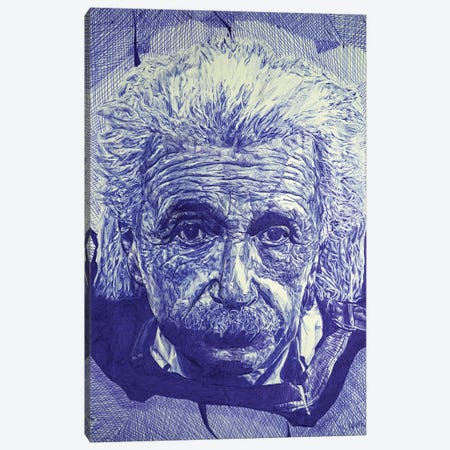 Einstein Ballpoint Pen Canvas Print #BHE275} by Ben Heine Art Print