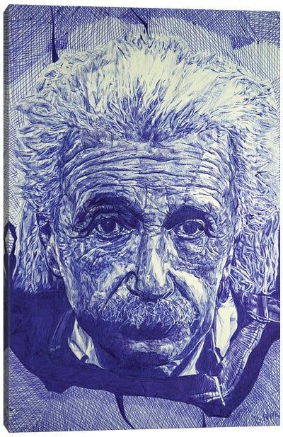 Einstein Ballpoint Pen Canvas Art Print