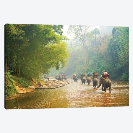 Elephants Balad - Thailand 330 Canvas Print #BHE276} by Ben Heine Art Print