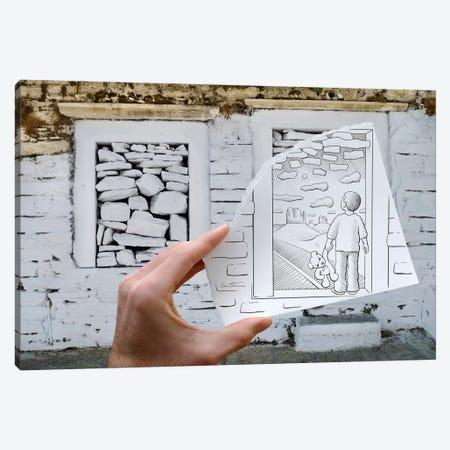 Pencil vs. Camera 46 - Child Dreaming Canvas Print #BHE28} by Ben Heine Canvas Art Print