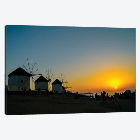 Mykonos Canvas Print #BHE295} by Ben Heine Canvas Print