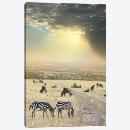 Once Upon A Time In Kenya VI Canvas Print #BHE299} by Ben Heine Canvas Wall Art