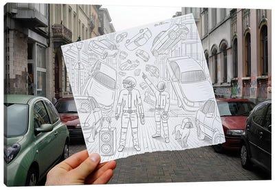 Pencil vs. Camera 47 - Daft Punk Canvas Print #BHE29