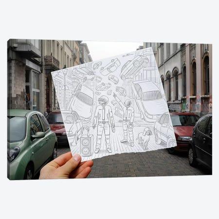 Pencil vs. Camera 47 - Daft Punk Canvas Print #BHE29} by Ben Heine Canvas Print