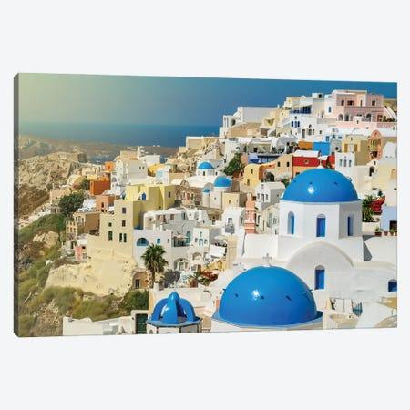 Santorini Canvas Print #BHE307} by Ben Heine Art Print