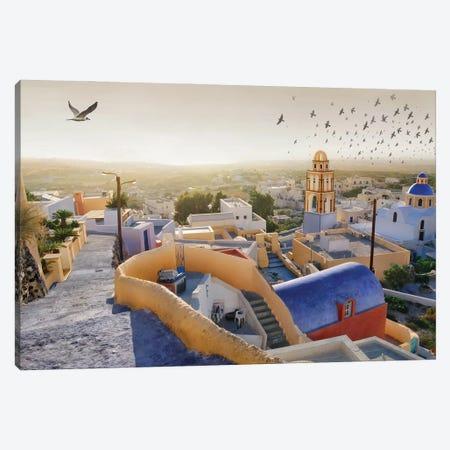 Santorini I Canvas Print #BHE308} by Ben Heine Canvas Wall Art