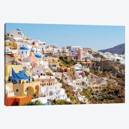 Santorini II Canvas Print #BHE309} by Ben Heine Canvas Wall Art